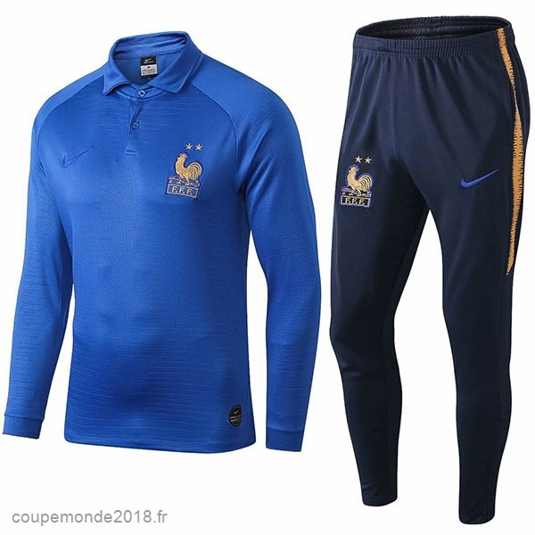 Pas Chers Ensemble Complet Polo France 100th Bleu