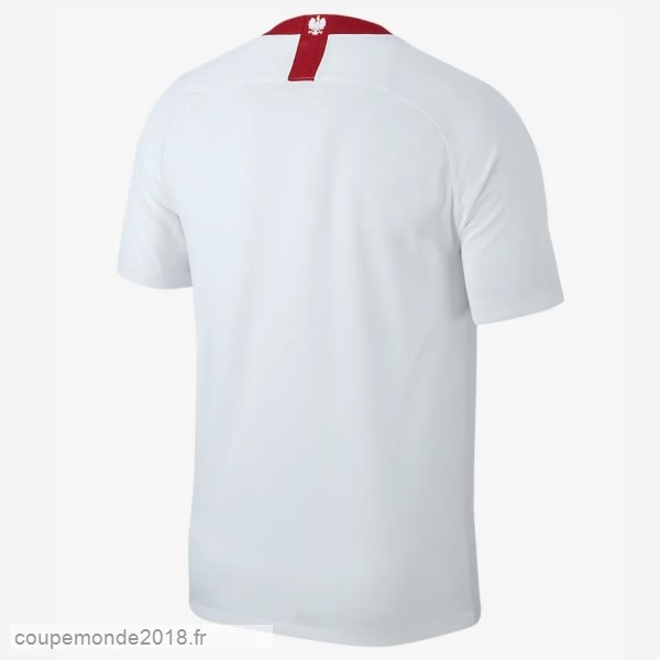 Pas Chers Maillot Polonia 100th Blanc Rouge